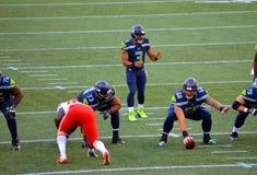 De Seattle Seahawks VERSUS Kansas City Chiefs Stock Afbeelding