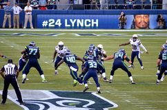 De Seattle Seahawks VERSUS San Diego Chargers 2014 Royalty-vrije Stock Foto's