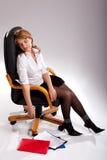 De Secretaresse van de slaap stock fotografie