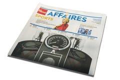 De Sectie van de Krantensporten van La Presse van Montreal stock afbeelding