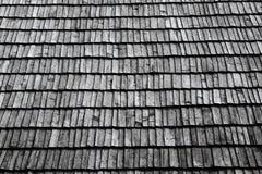 De sectie van het dak met houten verouderen Royalty-vrije Stock Afbeelding