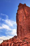 De Sectie van Park Avenue van de rotstoren overspant Nationaal Park Moab Utah Royalty-vrije Stock Foto