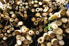De sectiemening van het bamboe Stock Foto's