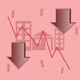De sectorcrisis van het huis Stock Afbeeldingen