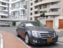 De sedan van Cadillac CTS van de muntvoorwaarde in Lima wordt geparkeerd dat Royalty-vrije Stock Foto