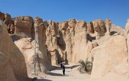 De sedimentaire lagen van de Berg van Algara Stock Afbeelding