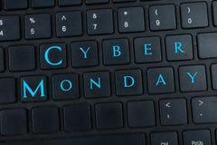 ` de segunda-feira do Cyber do ` da inscrição foto de stock
