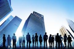 De seguro da diversidade executivos do conceito da discussão Fotografia de Stock Royalty Free