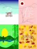 De seizoenen van Japan Stock Foto