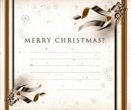 De seizoenenprentbriefkaar van Kerstmis royalty-vrije illustratie