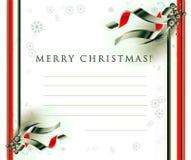 De seizoenenprentbriefkaar van Kerstmis Stock Fotografie