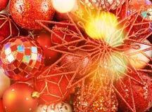 De seizoengebonden achtergrond van de Kerstmisdecoratie Stock Fotografie