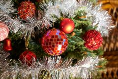 De seizoengebonden achtergrond van de Kerstmisdecoratie Stock Foto