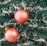 De seizoengebonden achtergrond van de Kerstmisdecoratie Stock Foto's