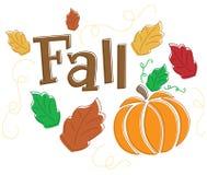 De seizoengebonden Grafische Herfst/Daling Royalty-vrije Stock Afbeelding