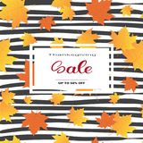 De Seizoengebonden Prijs van Autumn Traditional Holiday Shopping Discount van de thanksgiving dayverkoop van Banner stock illustratie