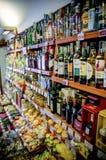 De selectie van alcoholische drankflessen Royalty-vrije Stock Afbeelding