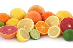 De Selectie van Citrusvruchten stock afbeelding