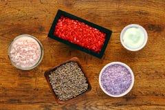 De Selectie van de Producten van het Bad van Aromatherapy en van de Hygiëne royalty-vrije stock foto's