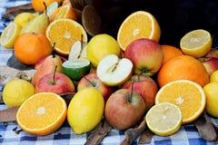 De selectie van het fruit, stempelingrediënten Stock Foto's