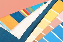 De in selectie van het kleurenontwerp Stock Afbeelding