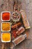 De selectie van kruiden en van kruiden Stock Foto