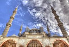 De Selimiye-Moskee in Edirne Royalty-vrije Stock Foto