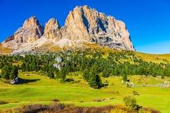 De Sella-Pas in het Dolomiet royalty-vrije stock foto