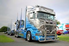 De Semi Vrachtwagen R620 V8 R van Scania U Route stock foto's