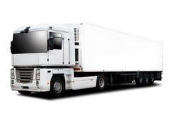 De semi Vrachtwagen van de Aanhangwagen stock afbeeldingen