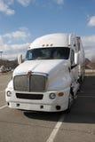 De semi Vrachtwagen van de Aanhangwagen van de Tractor stock fotografie