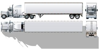 De semi-vrachtwagen van de lading Royalty-vrije Stock Afbeelding