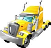 De semi vrachtwagen van het beeldverhaal Royalty-vrije Stock Fotografie