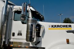 De Semi vrachtwagen van Kenworthkw Royalty-vrije Stock Foto's