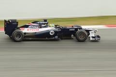 De Seneplant van Brunno Williams FW34 - Test Barcelona 2012 Stock Foto
