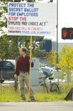 De sept. el 12 de 2009 protesta de la bolsita de té fotos de archivo