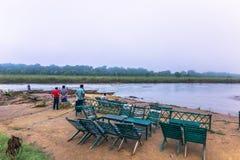 3 de septiembre de 2014 - amanecer en el parque nacional de Chitwan, Nepal Imagen de archivo
