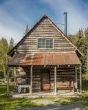3 de septiembre de 2016 - esperanza histórica de Alaska de la cabaña de madera, Alaska Fotografía de archivo libre de regalías