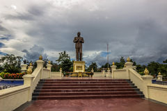 20 de septiembre de 2014: Estatua de presidente Souphanouvong en Luang P Imágenes de archivo libres de regalías