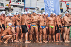 13 de septiembre de 2014, Gran nadada de Canaria, mar Imagen de archivo