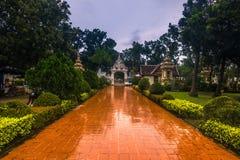 25 de septiembre de 2014: Jardín budista en Vientián, Laos Foto de archivo libre de regalías