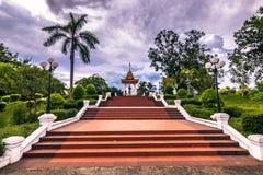 20 de septiembre de 2014: Jardines de Luang Prabang, Laos Imagen de archivo libre de regalías