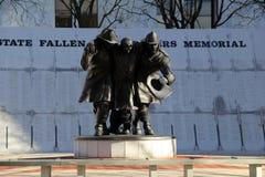 11 de septiembre de 2001 monumento de bomberos perdidos, Albany, Nueva York, caída, 2013 Foto de archivo