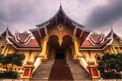 26 de septiembre de 2014: Palacio en ese Luang, Vientián, Laos Imagen de archivo libre de regalías