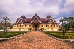 26 de septiembre de 2014: Palacio en ese Luang, Vientián, Laos Fotos de archivo libres de regalías