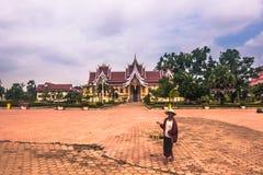 26 de septiembre de 2014: Palacio en ese Luang, Vientián, Laos Imagenes de archivo