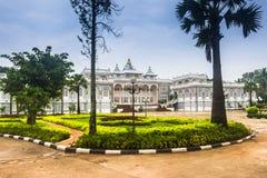 25 de septiembre de 2014: Palacio en Vientián, Laos Imagen de archivo