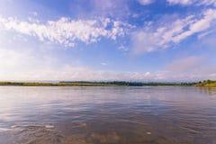 3 de septiembre de 2014 - panorama del parque nacional de Chitwan, Nepal Imagen de archivo libre de regalías
