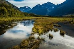 3 de septiembre de 2016 - parque de estado de Chugach, fuera de Anchorage Alaska Imagen de archivo