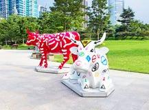 29 de septiembre de 2014 Shangai Escultura en el parque Imagen de archivo libre de regalías